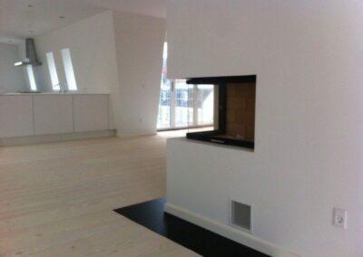 Indbygningspejs Totem Lateral 800